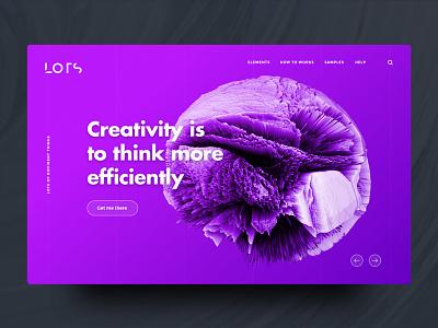 Landingpage UI - Purple (Concept) colors clean ux ui grid gradient concept design creativity landingpage lots