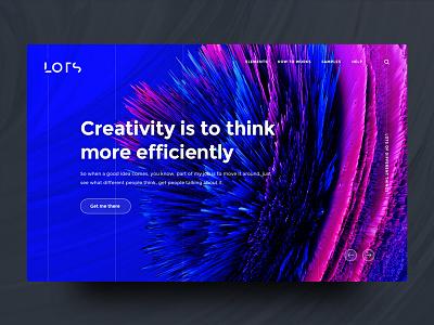 Landingpage UI - Blue (Concept) lots landingpage creativity design concept gradient grid ui ux clean colors