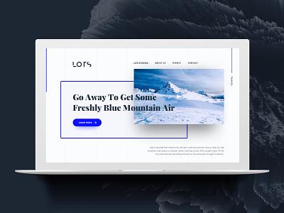 Travel Agency (Concept) layout blue clean ux ui grid concept design travel landingpage homepage