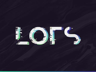 Lots Rebound glitch lots design graphic identity mark monogram simple symbol type typography logo