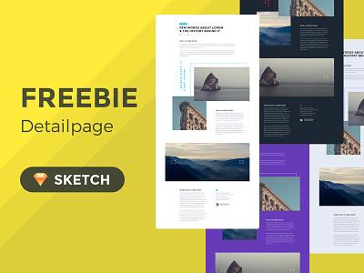 Concept Detailpage Freebie free sketch concept detailpage ui sketch freebie free