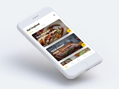 Get inspired food lover design experiment lover food inspiration ui ux ios app