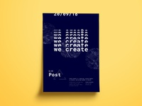 We create together typography sketch app print graphic design poster