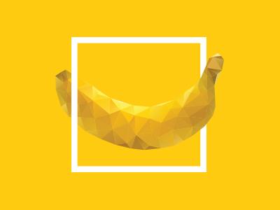 Square Banana  banana graphic illustration