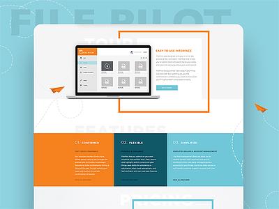 Website Concept typography paper airplane file web illustration website design