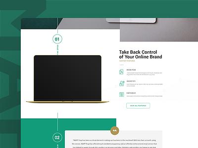 Green & Gold Site Design  gold green web design website minimal