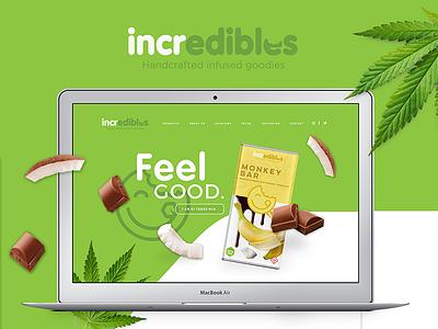 Web Design Concept for Marijuana Edibles Company packaging marijuana chocolate packaging branding