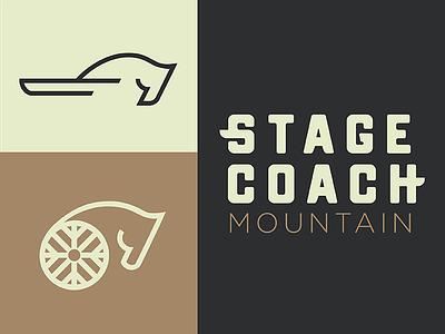 Stagecoach  branding mountain colorado logo type logo