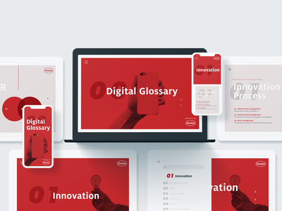 Henkel Digital Glossary design system ux ui website