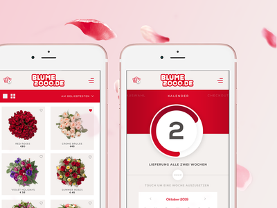 Blume 2000 Concept App flowers app design ux ui
