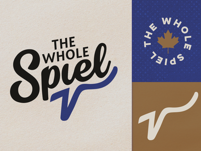 The Whole Spiel stationery design typography logo branding