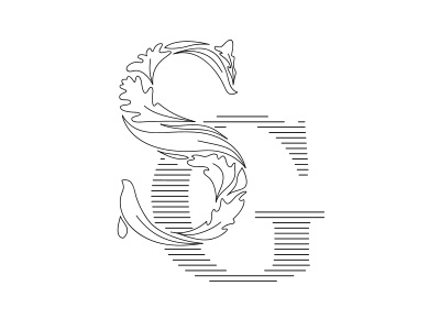 03 Secret Gardens nature luxury logo lettering graphic freehand estate typography design branding