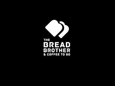 THE BREAD BROTHER black and white type classic coffee brother bread bakery graphic identity branding logo