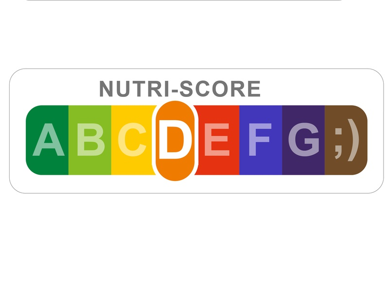 new NUTRI-SCORE for Spain pain is spain salt graphic logo branding nutri nutrients score design nutritional nutrition food label fats sugar signal packaging health