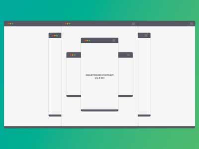 Flat Responsive Broswer Windows responsive flat mockup browser