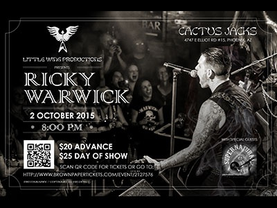 Ricky Warwick Concert Poster