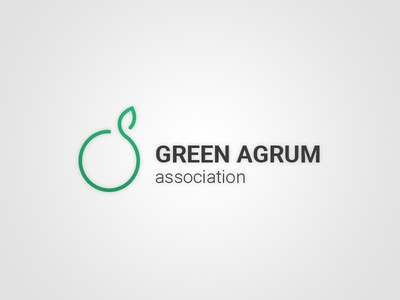 Green Agrum logo grapefruit orange mandarin association logo green agrum agrum green