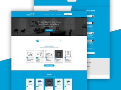 LMS redesign - Homepage mooc cisco elearning learning home homepage redesign lms