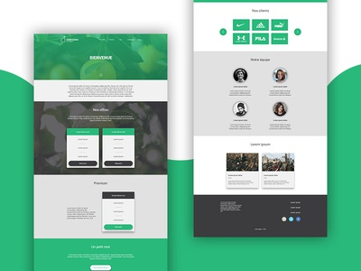 Green Agrum - Homepage one page onepage design web webdesign homepage agrum green