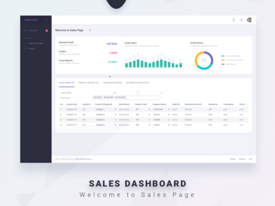 Dashboard Sales Page