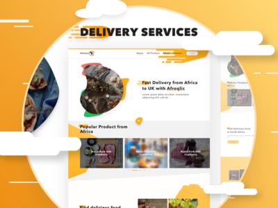Delivery Service Landingpage