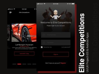 UI/UX Design for Elitecompetitions