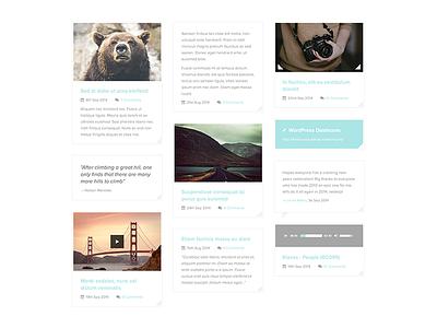 Masonry style WordPress blog wordpress blog masonry post formats archive grid