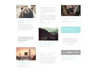 Masonry style WordPress blog