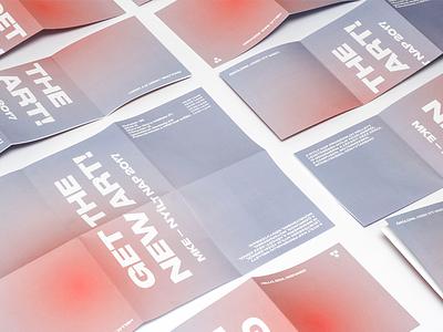 HUFA - Open day 2017 - brochure art light photo event typo tipo brochure