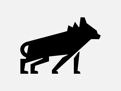 Savanna symbols icon hyena hiena savanna natural design graphic minimal animal symbol logo