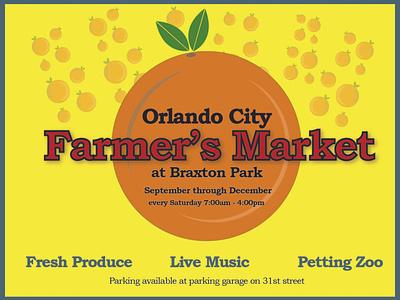 Farmer's Market typography vector illustration design