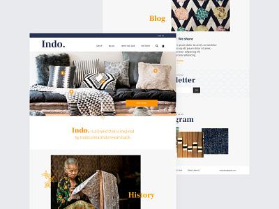 Indo - Home e-commerce website debutshot debut webdesign ui design batik indonesian shop e-commerce design homepage