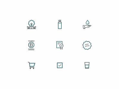 Soma water - Icon set blue soma ui e-commerce design shop water sustainable icons icon set icon iconography
