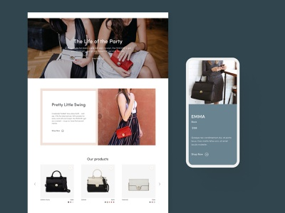 Jemma Bag - Collection catalog design jemmabag product catalogue product card website design shopify bag catalog collection luxury bag webdesign design ui e-commerce design shop