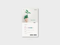 Daily UI #33 - Customise Product