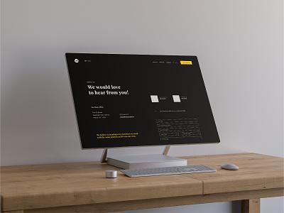 The UX Studio Website - Contact Page bold design web branding web design minimal visual designer portfolio website digital design ui design
