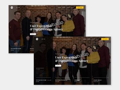 The UX Studio Website - Landing Concept branding web design minimal visual designer portfolio website digital design ui design