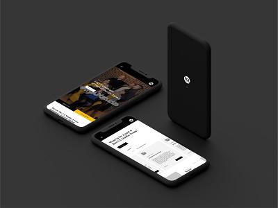 The UX Studio Website - Mobile web branding web design minimal visual designer portfolio website digital design ui design