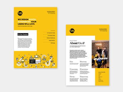 The UX Studio - Brochure photography marketing design brochure design print design typography branding visual designer portfolio digital design design