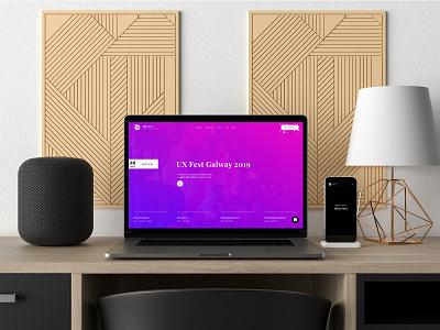 UX Fest - Concept Project | The UX Studio concept design logo web typography branding web design minimal website visual designer portfolio ui digital design design