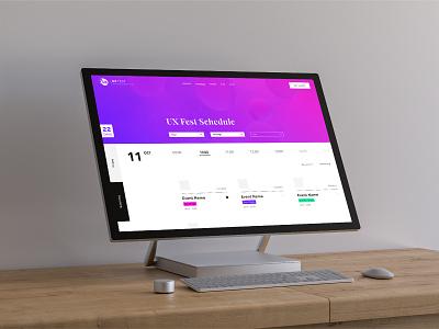 UX Fest - Concept Project | The UX Studio concept design ux typography branding web design minimal website visual designer portfolio ui digital design design