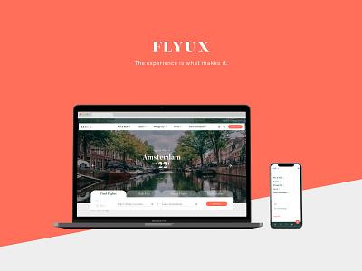 FlyUX - Concept Project (coursework) ux design figma interaction design high fidelity prototyping concept design ui web design branding website digital design portfolio visual designer design