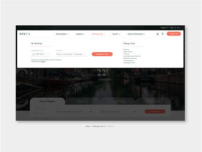 "FlyUX - Concept Project ""Manage Trip"" (coursework) figma high fidelity interaction design prototyping ux design concept design web design branding website visual designer portfolio ui digital design design"