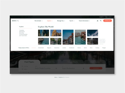 """FlyUX - Concept Project """"Explore"""" (coursework)"""