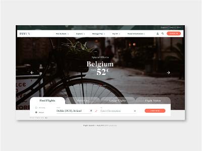 "FlyUX - Concept Project ""Landing"" (coursework) figma high fidelity prototyping ux design concept design web design branding website visual designer portfolio ui digital design design"