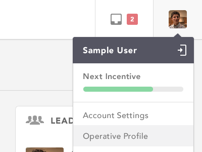 User Drop icon glyph progress user web app ui avenir drop-down crm inbox