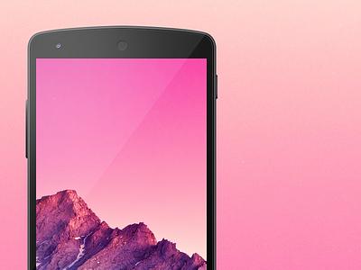 Nexus 5 Template nexus google android template photoshop psd free