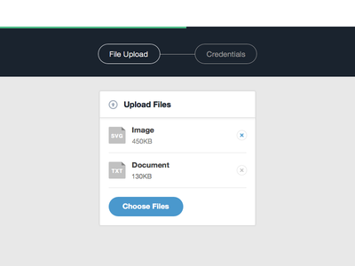 File Upload upload files steps document helvetica ui progress