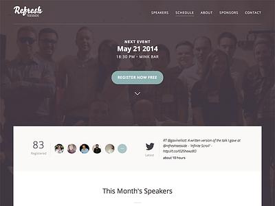 Refresh Teesside Website refresh website event register tweet open sans