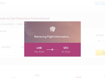 Search Results Loader search results loader loading flights